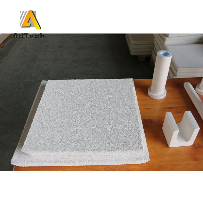 A ceramic foam filter