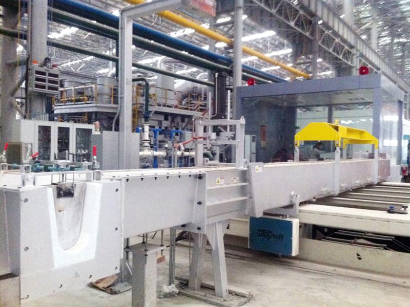 Conveying Molten Aluminum Aluminum Silicate Launder