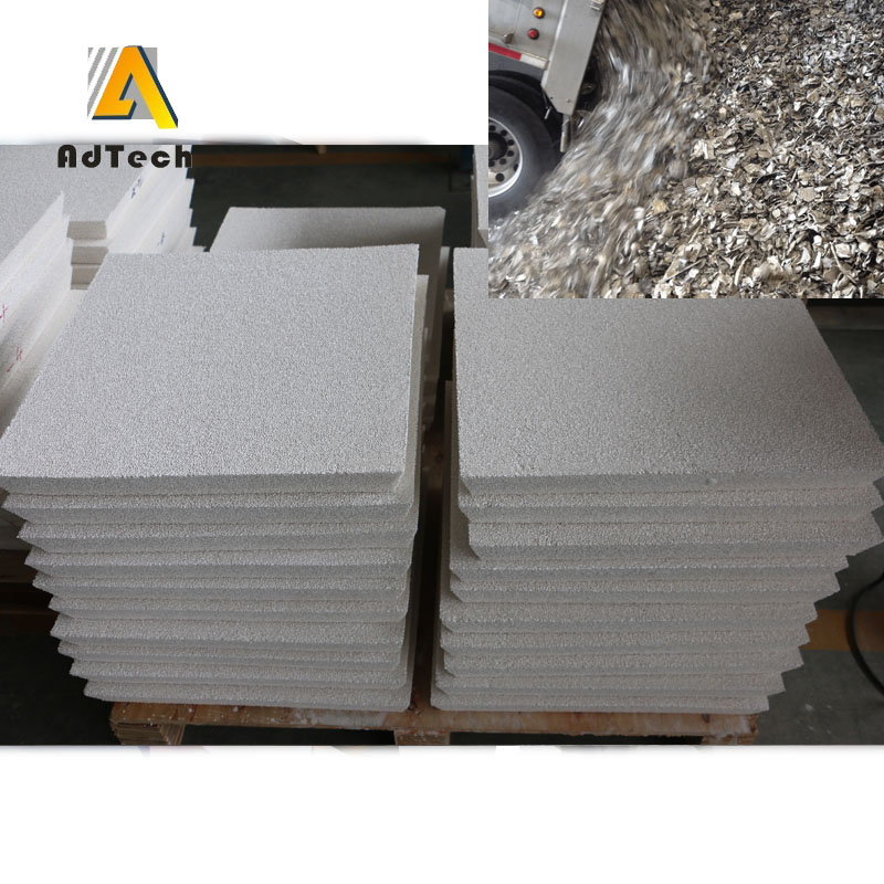 Reticulated ceramic foam filters