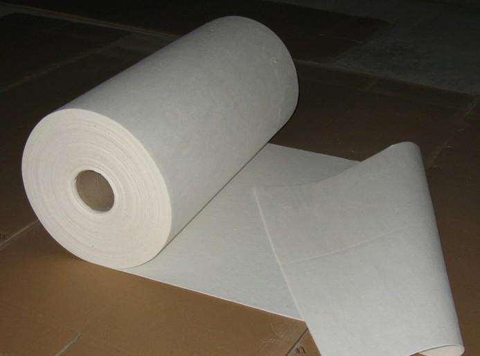 Ceramic fiber paper production process